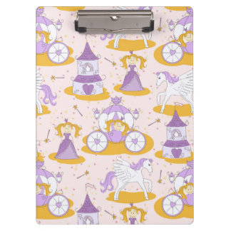 pattern with a princess clipboard