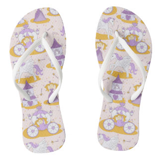 pattern with a princess flip flops