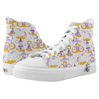 pattern with a princess high tops