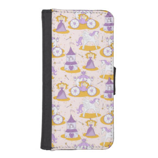 pattern with a princess iPhone SE/5/5s wallet case