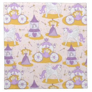 pattern with a princess napkin