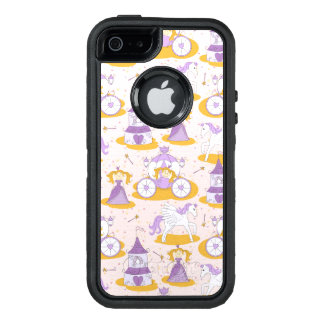 pattern with a princess OtterBox defender iPhone case