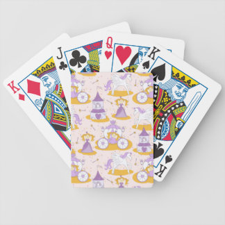 pattern with a princess poker deck