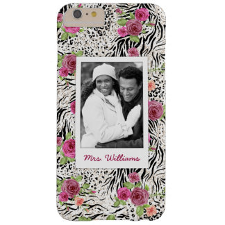 Pattern With Animal Prints | Add Your Photo & Name Barely There iPhone 6 Plus Case