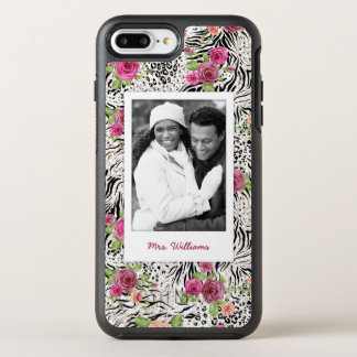 Pattern With Animal Prints | Add Your Photo & Name OtterBox Symmetry iPhone 7 Plus Case