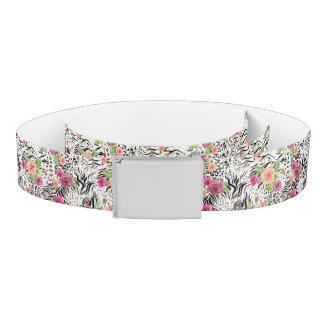 Pattern With Animal Prints Belt