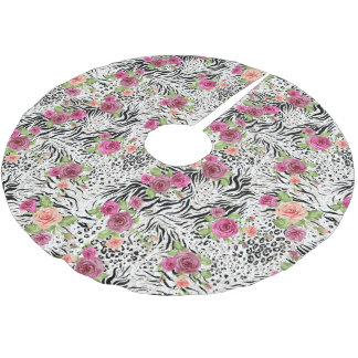 Pattern With Animal Prints Brushed Polyester Tree Skirt