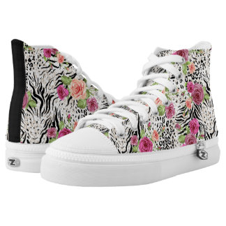 Pattern With Animal Prints High Tops