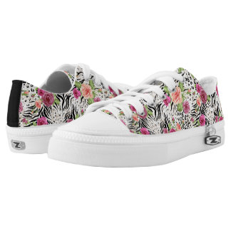 Pattern With Animal Prints Low Tops
