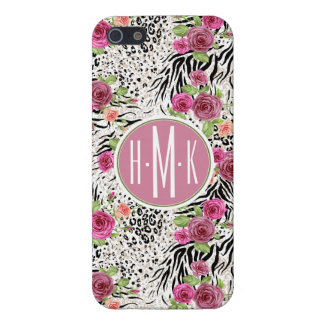 Pattern With Animal Prints   Monogram iPhone 5/5S Cover