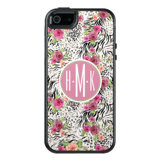 Pattern With Animal Prints | Monogram OtterBox iPhone 5/5s/SE Case