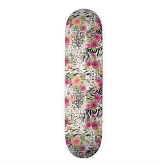 Pattern With Animal Prints Skate Deck