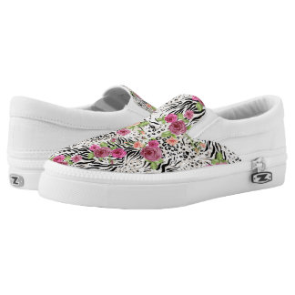 Pattern With Animal Prints Slip-On Shoes