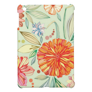 Pattern with asters cover for the iPad mini