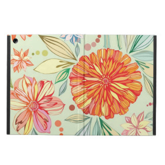 Pattern with asters iPad air cover
