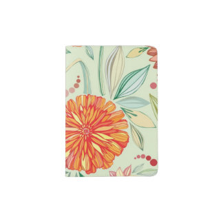 Pattern with asters passport holder