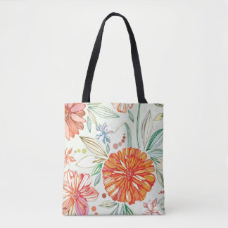Pattern with asters tote bag