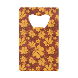 Pattern with autumn chestnut leaves
