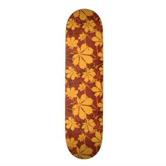 Pattern with autumn chestnut leaves 19.7 cm skateboard deck