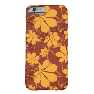 Pattern with autumn chestnut leaves barely there iPhone 6 case