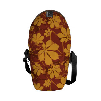 Pattern with autumn chestnut leaves courier bags