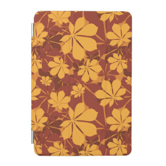 Pattern with autumn chestnut leaves iPad mini cover