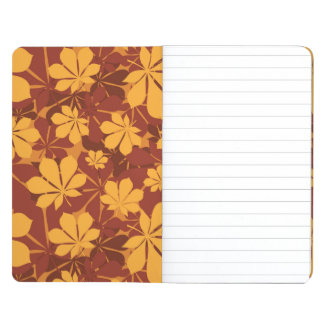 Pattern with autumn chestnut leaves journal