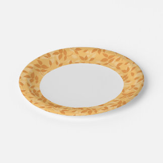 Pattern with autumn leaves 7 inch paper plate