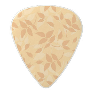 Pattern with autumn leaves acetal guitar pick