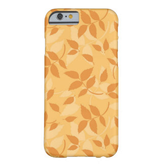 Pattern with autumn leaves barely there iPhone 6 case