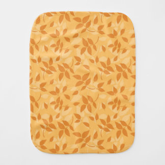 Pattern with autumn leaves burp cloth