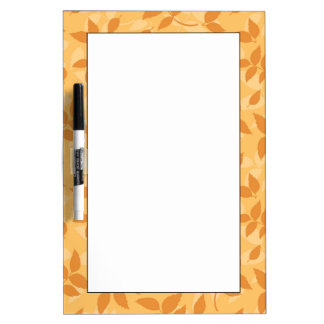 Pattern with autumn leaves dry erase board