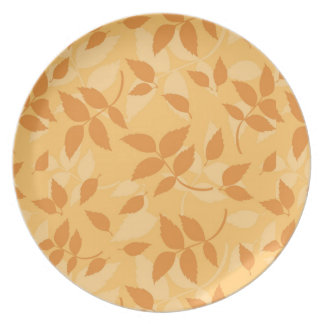 Pattern with autumn leaves party plate