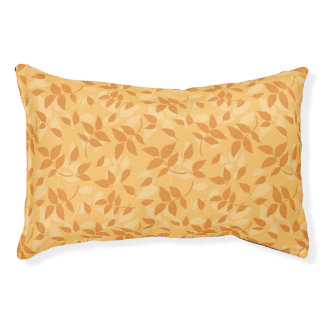 Pattern with autumn leaves pet bed