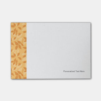 Pattern with autumn leaves post-it® notes