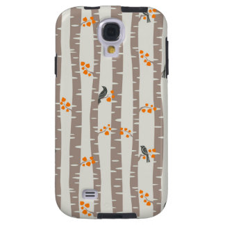 Pattern with autumn trees and birds galaxy s4 case