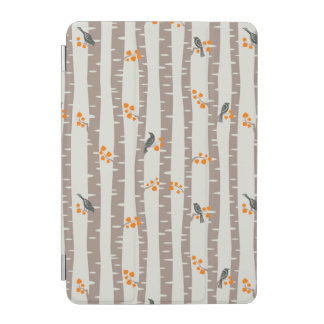 Pattern with autumn trees and birds iPad mini cover