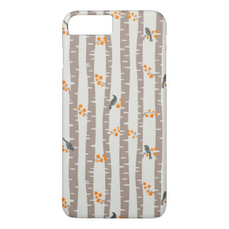 Pattern with autumn trees and birds iPhone 8 plus/7 plus case
