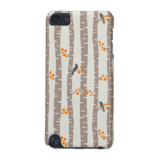 Pattern with autumn trees and birds iPod touch (5th generation) case