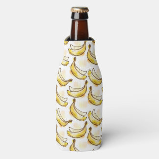 Pattern with banana bottle cooler