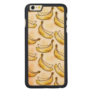 Pattern with banana carved maple iPhone 6 plus case