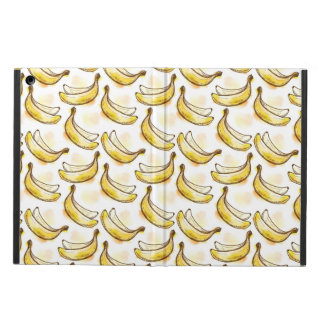 Pattern with banana case for iPad air
