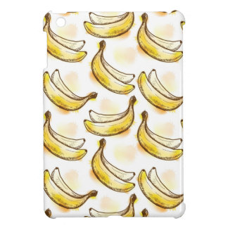 Pattern with banana case for the iPad mini
