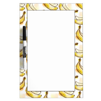 Pattern with banana dry erase board