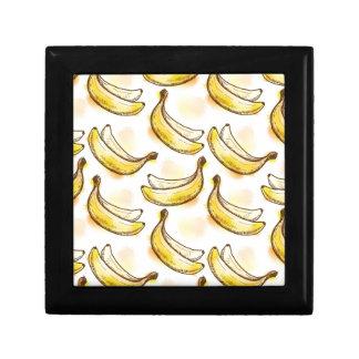 Pattern with banana gift box