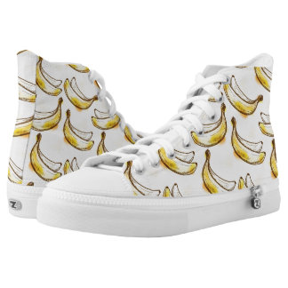 Pattern with banana high tops