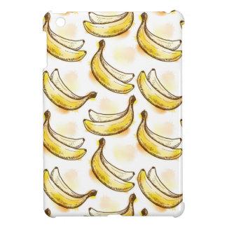 Pattern with banana iPad mini cases