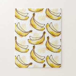 Pattern with banana jigsaw puzzle