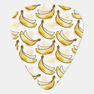 Pattern with banana plectrum