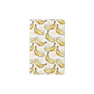 Pattern with banana pocket moleskine notebook
